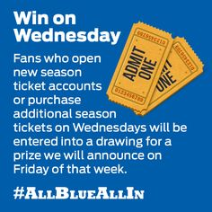 Want to win a unique behind-the-scenes experience, game tickets, polos or more? Buy new season tickets on Wednesdays through August and you will be registered for a chance to win a great prize. Call 866-GA-STATE to find out more information. #allblueallin #GSU #collegefootball