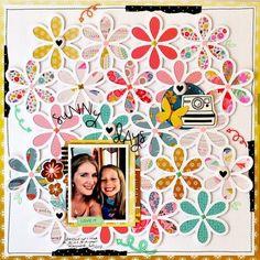 Niki Claire using flower background cut file Baby Girl Scrapbook, Scrapbook Quotes, Disney Scrapbook Pages, Kids Scrapbook, Scrapbook Designs, Scrapbook Page Layouts, Scrapbook Paper Crafts, Scrapbook Supplies, Wedding Scrapbook