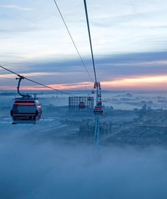 the Emirates Air Line (named for its Dubai airline sponsor) offers outstanding views of the Greenwich peninsula, the Olympic Park, and the towers and marinas of Docklands as its 34 gondolas shuttle between the ExCel Centre and the 02.