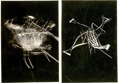 Maholy Nagy  Plexiglass mobile sculpture in repose and in mostion