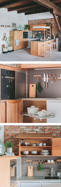 WALDEN Küche aus edlem Holz mit vielen praktischen Stauraumlösungen Taipei, Kitchen, House, Cooking, Kitchens, Cuisine, Cucina