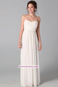 Elegant Column Chiffon Wedding Dress Evening Dresses Prom Formal Bridal Ball GownsP006