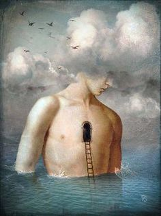 """""""the door to the clouds"""" Digital Art by Christian Schloe posters, art prints, canvas prints, greeting cards or gallery prints. Find more Digital Art art prints and posters in the ARTFLAKES shop. Magritte, Illustrator, Illustration Photo, Cloud Art, Magic Realism, Poster S, Wassily Kandinsky, Surreal Art, Collage Art"""