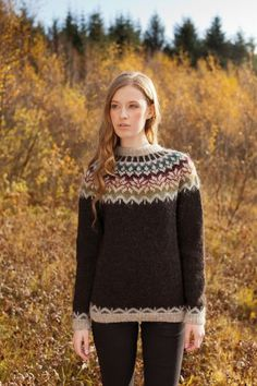 Love the look of traditional Icelandic knitwear but want to create something completely unique to you? Our Icelandic knitting kits include everything you need to improve your knitting know-how and craft a beautiful Icelandic sweater, dress, scarf,. Knitting Kits, Fair Isle Knitting, Knitting Designs, Knitting Needles, Free Knitting, Knitting Projects, Icelandic Sweaters, Wool Sweaters, Knitwear