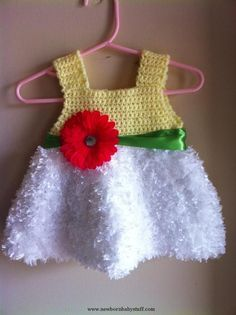 Crochet Baby Dress Crochet Baby Dress SPRING CROCHET baby dress by DealerGirl o...