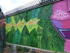 The Street Art Of The Nomadic Community Gardens School Murals, Wall Murals, Street Art, Community, Garden, Garten, Gardening, Outdoor, Murals