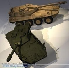 Centauro B1 tank destroyer 3D Model- This model is only artistic representation of the subject matter. Made for a magazine illustration. If you like the model please rate it.  The Centauro is a wheeled tank-destroyer. 400 are in service with the Italian Army and 84 with the Spanish Army.  The Centauro B1 tank destroyer was designed to carry out tactical reconnaissance and territorial defence tasks. The main mission of the Centauro heavy armored car is the protection of lighter vehicles and…