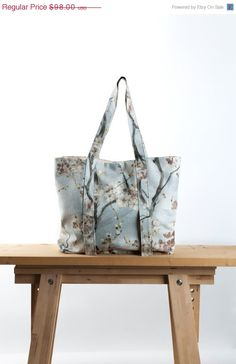 Spring Sale New Yoga Mat Bag - Sakura Tote Bag - Yoga Bag- Yoga Accessories - Blue Linen Yoga Bag on Etsy, 67,65€