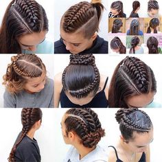 Pin by TrenCitaJohnson on Braided hairstyles in 2019 Pretty Braided Hairstyles, Mom Hairstyles, Braided Hairstyles Tutorials, Viking Hair, Hair Upstyles, Hair Designs, Textured Hair, Hair Hacks, Hair Trends