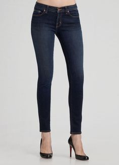 NEW J Brand low rise Skinny Jeans dark rinse wash with stretch  27 #JBrand #lowrisejeans