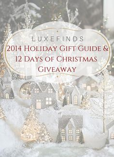 We have created the ultimate holiday gift guide for you to shop from! Every item is clickable and shoppable! We have also partnered up with some amazing retailers and brands to bring you our 12 Days of Christmas Giveaway!