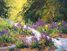Robert E Wood - Spring Run-Off 14x18