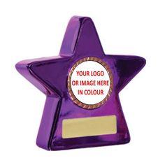 Metallic Star Purple 100mm Star Trophy, Dance Awards, Trophy Design, Reaching For The Stars, Black Star, Metallic, Purple, Certificate, Color