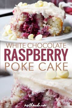White Chocolate Raspberry Poke Cake White Chocolate Raspberry Poke Cake – this easy poke cake recipe combines white chocolate filling and chips with delicious homemade raspberry syrup into a delicious cake recipe that's perfect for your next party! Delicious Cake Recipes, Easy Cake Recipes, Yummy Cakes, Simple Dessert Recipes, Easy Homemade Desserts, Homemade Cheesecake, Homemade Cakes, Poke Cakes, Cupcake Cakes