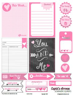 Free Printable Download -  Cupid's Arrows Journaling Elements  ~~ from Vintage Glam Studio