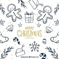 Pretty christmas sketches background