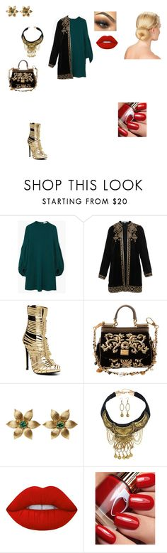 """chic outfit"" by helena94-1 on Polyvore featuring MANGO, Bella Tu, Liliana, Dolce&Gabbana, La Perla, Lime Crime and polyvorefashion"