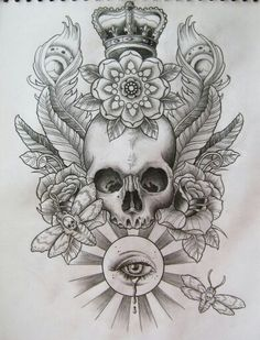 All Seeing Eye, Skulls and Bee's