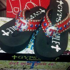 Gypsy Soule Texas Rangers Flip Flops