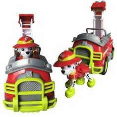 Paw Patrol Jungle Rescue Fire Truck Marshall Toy