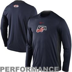 Nike USA Hockey Performance Long Sleeve T-Shirt  usa  olympics  teamusa Team 3b578f325