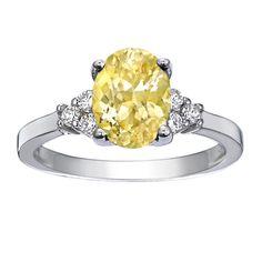 18K White Gold Sapphire Trio Diamond Ring from Brilliant Earth