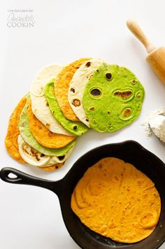 Today I'm sharing my secret to the easiest, most tender, delicious tortillas ever, in three different mouth-watering flavors!