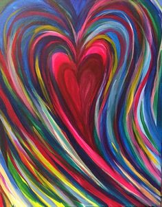 Painting Classes & Paintings for Sale Valentines Art, Heart Painting, Heart Wallpaper, Diy Canvas Art, Cross Paintings, Heart Art, Whimsical Art, Painting Inspiration, Art Lessons