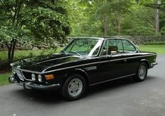 1970 BMW 2800CS  Automatic  Black re-spray over the original Fjord Blue paint. $8975 Connecticut