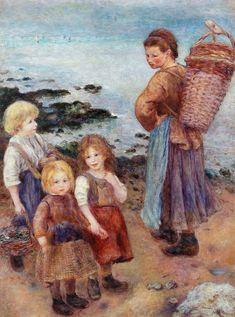 Pierre Auguste Renoir - Mussel-Fishers at Berneval, 1879.    Коллекция Альберта Барнса, Филадельфия.