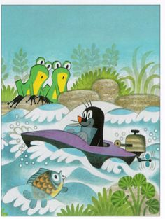 Zdeněk Miler Krtek Krecik Best Children Books, Czech Republic, Disney, Fairy Tales, Cartoons, Kids Rugs, Illustration, Wall, Anime