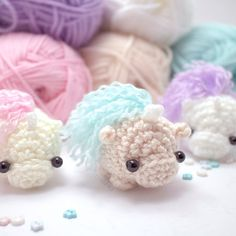 Crochet unicorn pattern. An amigurumi pattern by mohustore. I've made about 10 of these, they are so cute! My niece loves them.