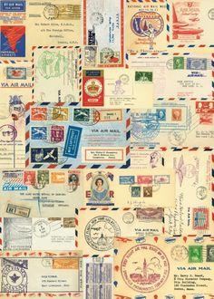 Cavallini Geschenkpapier - Luftpost / Par Avion: Amazon.de: Küche & Haushalt