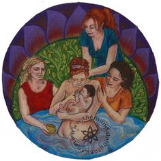 Love this birth art and being a doula! Baby Massage, Doula Business, Massage Business, Business Baby, Birth Art, Pregnancy Art, Birth Doula, Water Birth, Natural Birth