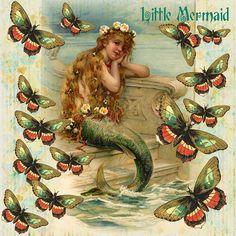 Vintage illustration Little Mermaid