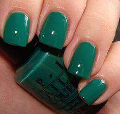 green nails   Tagged with: OPI , nails , nail polish , green