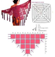 16 easy crochet granny squares, a ch stitch border and you have a shawl in no time!!