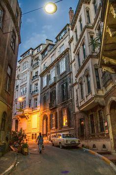 Cihangir At Night /Istanbul,Turkey