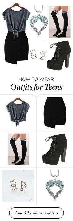 """""""Angel and fox"""" by angel-grey-winchester on Polyvore featuring Tobi, Breckelle's and Hug a Porcupine"""