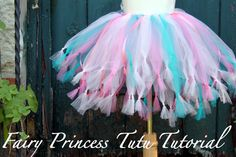 The Cottage Home: Fairy Princess Tutu Tutorial - tie knot at the end and add ribbons
