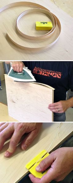 How to Get Perfect Plywood Edging with an Iron | Love building with plywood but hate those unfinished edges? Cover them up with simple iron-on edge banding. Click to learn how.