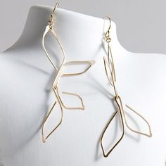 Olive Leaf Earrings now featured on Fab.