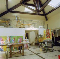 Artist studio, France.