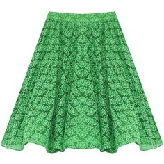 Alice + Olivia Hope Peter Pan Collar Top (380 BRL) ❤ liked on Polyvore featuring skirts, bottoms, alice + olivia, green striped skirt, rayon skirt, green skirt, alice olivia skirt and stripe skirt