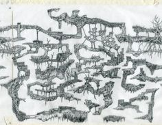 Complex hand drawn game level by Peter McClory (Peter McClory, 2014)