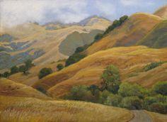 'Receding Fog' pastel, 14 x 18.5 (image size) 2011 | Dotty Hawthorne.