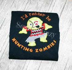 Zombie Hunting shirt or onesie by sewwhimzy on Etsy, $24.00