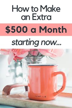Check out these five great ways to make an extra $500 a month starting right now! Combine them all for an extra $2,500 a month!