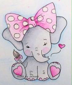 - cute drawings, drawing for kids en baby art. Baby Elephant Drawing, Elephant Art, Cute Elephant, Elephant Drawings, Elephant Pattern, Belly Painting, Baby Art, Drawing For Kids, Fabric Painting