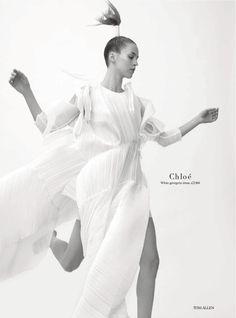 Julia Frauche By Tom Allen For Uk Harper's Bazaar February 2014